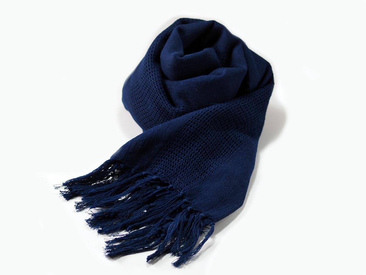 """藍染ストール「ラ・インディア」/ indigo-dyed stole """"La India"""""""