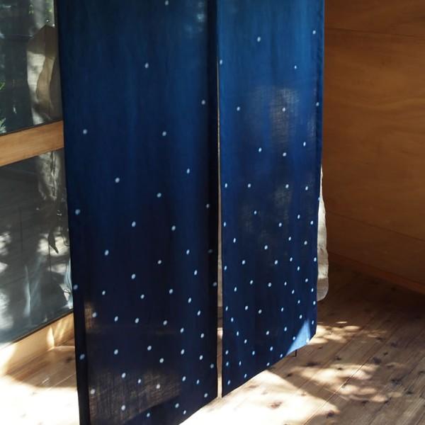 リネンの暖簾/ Linen's split curtains