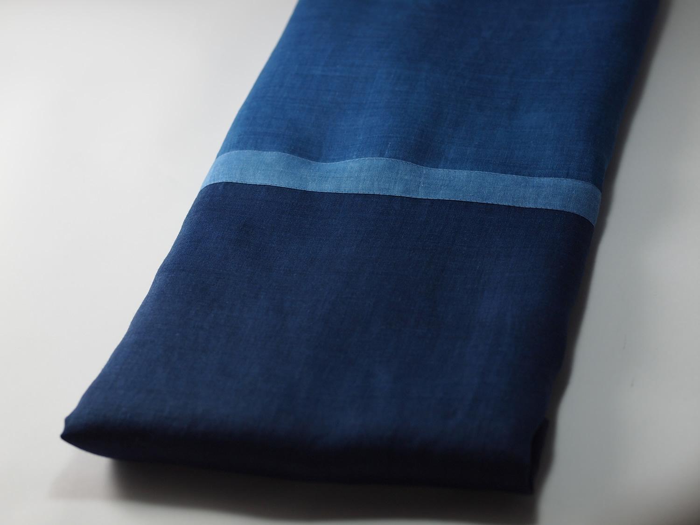 藍染ストール/ indigo dyed stole