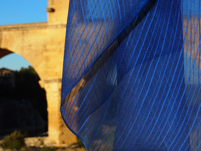 藍染シルクスカーフ/ indigo dyed silk scarf