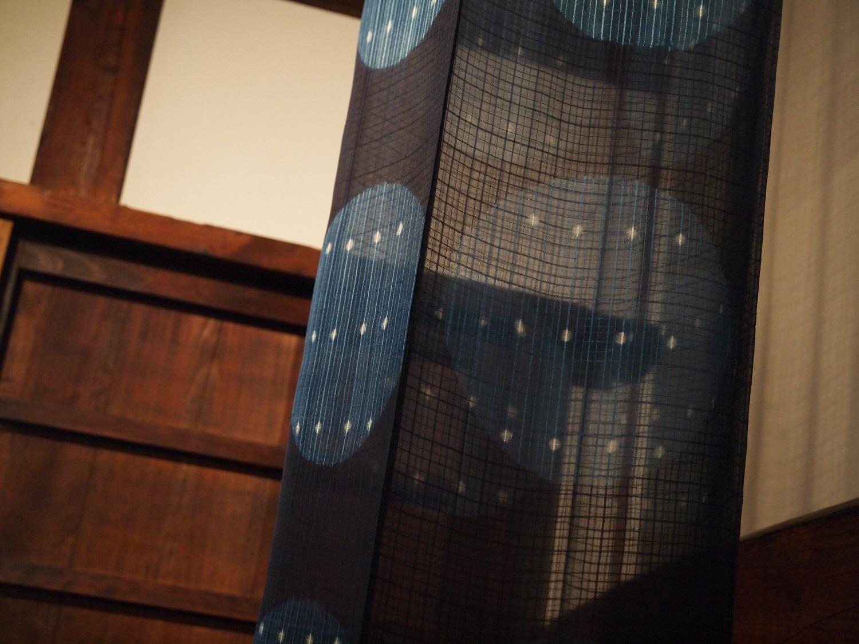 藍染立体作品「ブルームーン」 Indigo Art Work Blue Moon